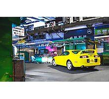 TOYOTA Supra in Yellow Photographic Print