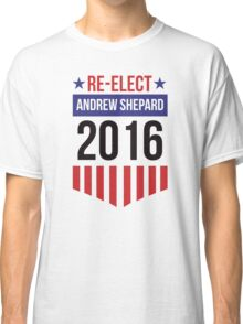 Re-Elect Andrew Shepard 2020 - Badge Classic T-Shirt