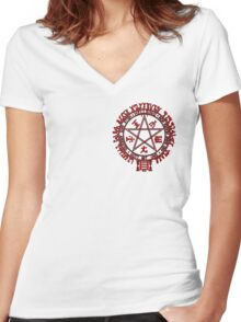 Hellsing Insignia - Red Women's Fitted V-Neck T-Shirt