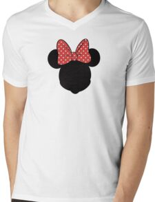 Minnie Mouse Mens V-Neck T-Shirt