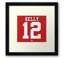 Chin Ho Kelly football jersey 12 Framed Print