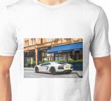 Lamborghini Aventador LP700-4, Matte White  Unisex T-Shirt