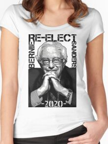 Re-Elect Bernie Sanders 2020 - Portrait Women's Fitted Scoop T-Shirt