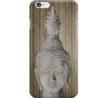 Buddha head sculpture iPhone Case/Skin