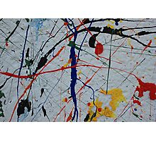 Splatters of Paint on a Wall Photographic Print