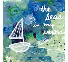 the seas in my veins Photographic Print