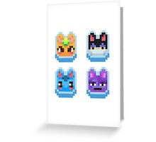 Animal Crossing pixel cats Greeting Card