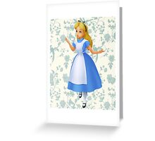 Floral Alice  Greeting Card