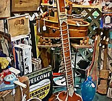 The Sitar At The Antique Shop by Jane Neill-Hancock