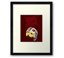 Star Wars - Rebel With a Cause  Framed Print