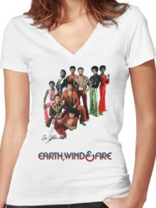 Earth, Wind and Fire - Maurice White Tribute Women's Fitted V-Neck T-Shirt