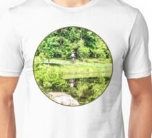 Bicycling by the Lake Unisex T-Shirt