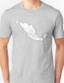 Mexico Map Unisex T-Shirt