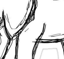 Hand Drawn Elephant Sticker