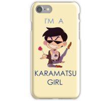 Karamatsu Girl iPhone Case/Skin