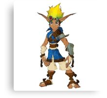 Jak Low poly White lines version  Canvas Print