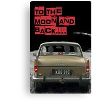 to the moon and back....  Canvas Print