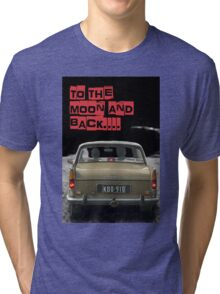 to the moon and back.... Valentine's - by Anne Winkler Tri-blend T-Shirt
