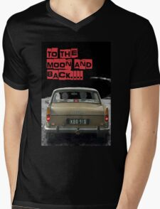 to the moon and back.... Valentine's - by Anne Winkler Mens V-Neck T-Shirt