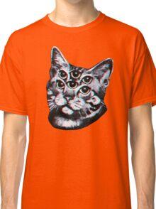 Psychedelic Cat (3D vintage effect) Classic T-Shirt