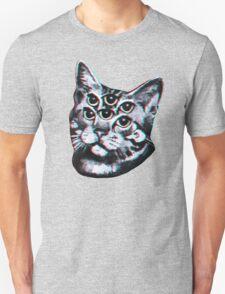 Psychedelic Cat (3D vintage effect) T-Shirt