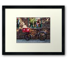 Delivery Bicycle Greenwich Village Framed Print