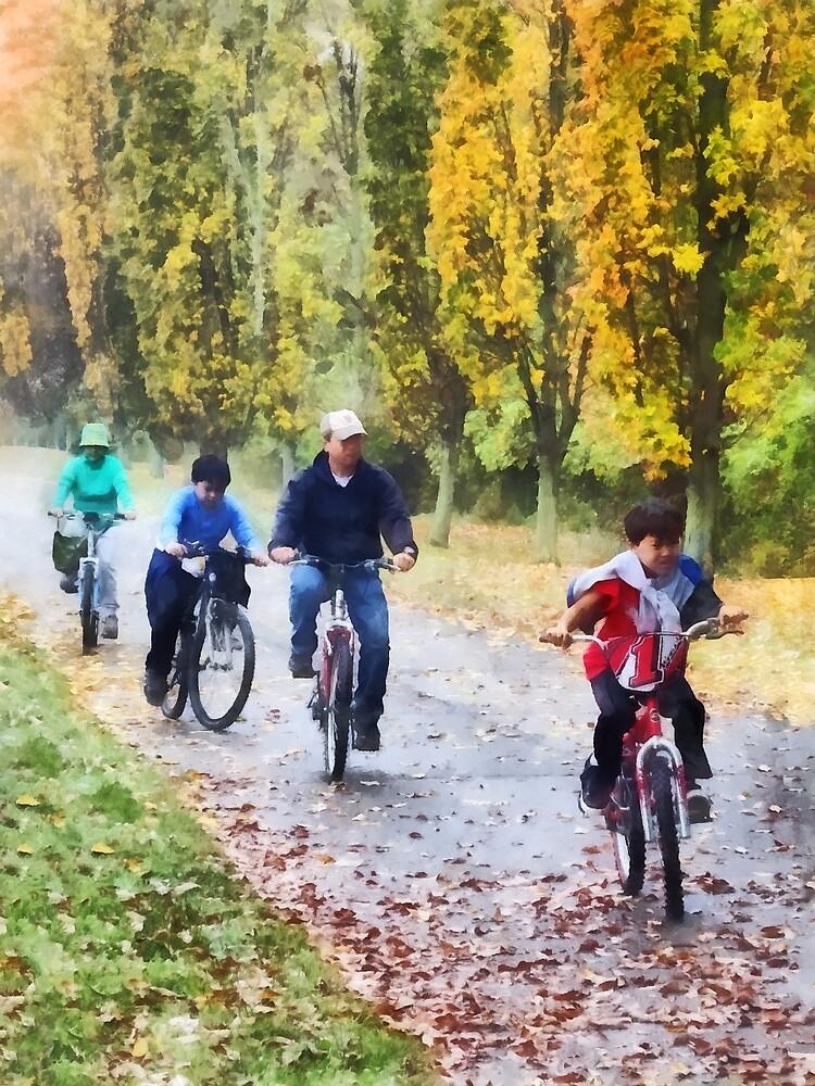 Family Bike Ride by Susan Savad