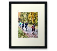 Family Bike Ride Framed Print