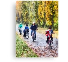 Family Bike Ride Canvas Print