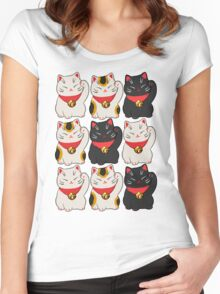 Beckoning Cat Women's Fitted Scoop T-Shirt