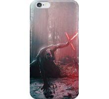 Kylo Ren and Vader's Mask Portrait iPhone Case/Skin
