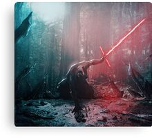Kylo Ren and Vader's Mask Portrait Canvas Print
