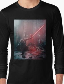 Kylo Ren and Vader's Mask Portrait Long Sleeve T-Shirt