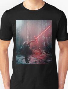 Kylo Ren and Vader's Mask Portrait Unisex T-Shirt