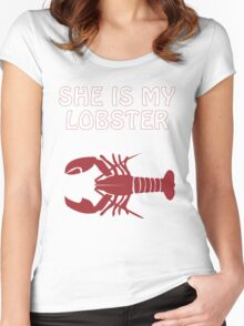 She is my lobster Women's Fitted Scoop T-Shirt