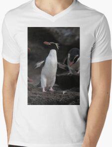 Yellow-Eyed Snare Penguin Mens V-Neck T-Shirt