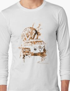 Volkswagen Kombi Splash Sepia © Long Sleeve T-Shirt