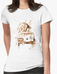 Volkswagen Kombi Splash Sepia © Womens Fitted T-Shirt