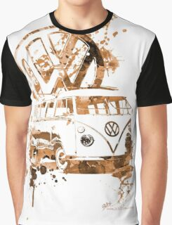 Volkswagen Kombi Splash Sepia © Graphic T-Shirt