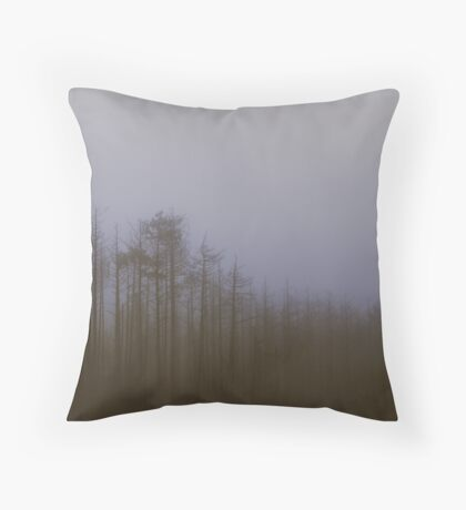 Fog and Needle Throw Pillow