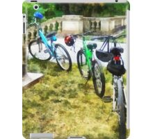 Line of Bicycles in Park iPad Case/Skin