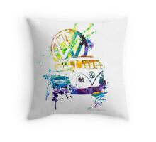 Volkswagen Kombi Splash © Throw Pillow