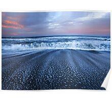 Pacific Ocean Waves Poster