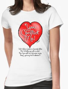 Nonbeliever's Valentine Womens Fitted T-Shirt