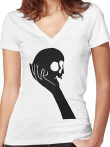 Alas Poor Yorick Women's Fitted V-Neck T-Shirt