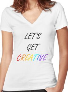 Let's Get Creative Women's Fitted V-Neck T-Shirt