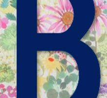 """B"" Letter Monogram Sticker"