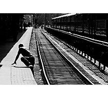 Crossing Tracks Photographic Print