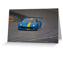 Blue Ferrari Greeting Card