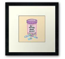 Crazy Pills Zoolander sprinkles weird pills tumblr meme print Framed Print